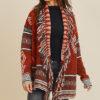 Cozy Fringed Southwestern Style Knit Cardigan
